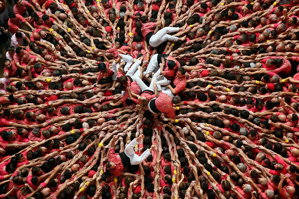 "Castells of Catalunya, ""força, equilibri, valor i seny!"" Strength, balance, courage and common sense the aim of Catalan human towers"